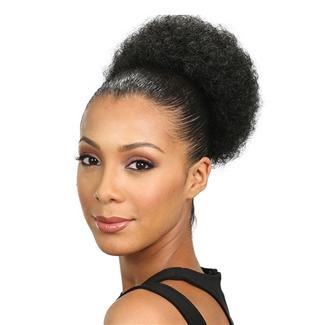 Bobbi Boss Speedy Up Do Top Bun Drawstring S Afro Pom