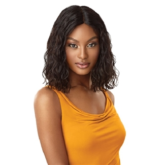 Outre 100 Unprocessed Human Hair Lace Part Daily Wig Curly Blunt